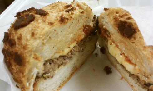 Lombardi's BBQ burger