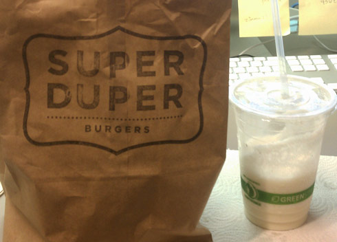 Super Duper Burger Takeout